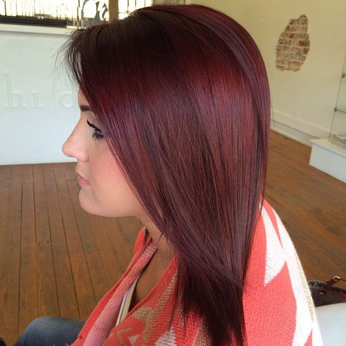 60 auburn hair colors to emphasize your individuality burgundy hair color pmusecretfo Choice Image