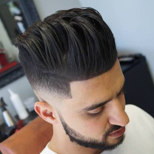 fun men's brunette pompadour
