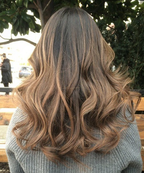 Captivating Dark Brown Hair With Light Brown Ombre