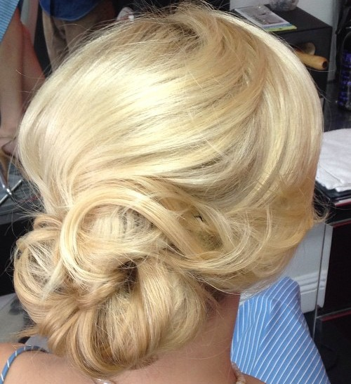Loose Low Blonde Chignon