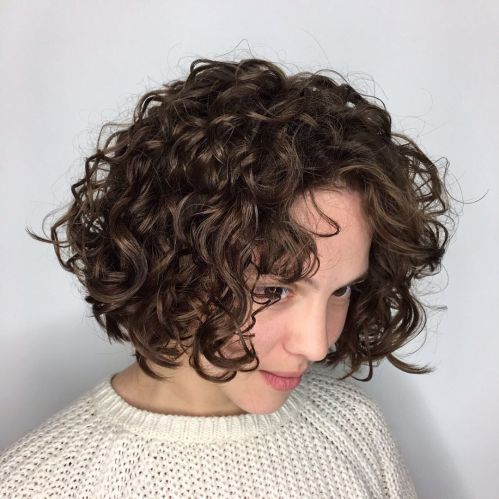 Short Hair Perm With Big Curl