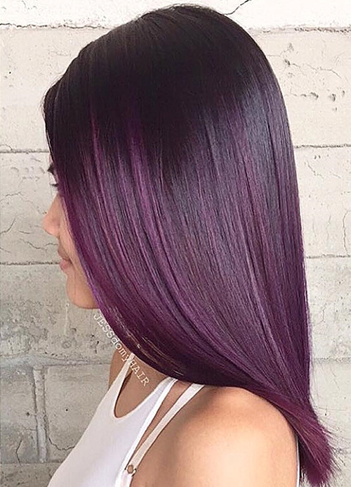black violet ombre hair - photo #30