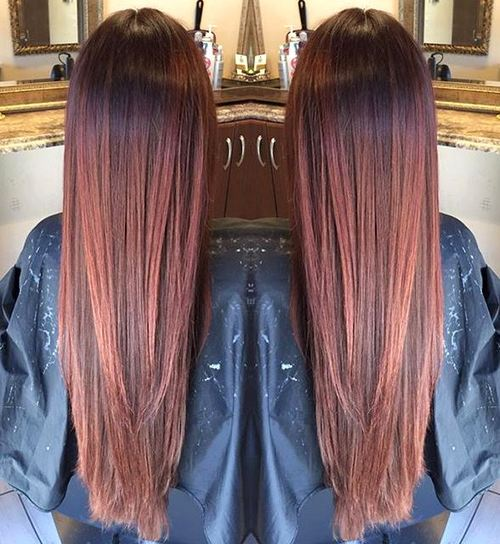 60 auburn hair colors to emphasize your individuality long reddish brown ombre pmusecretfo Gallery