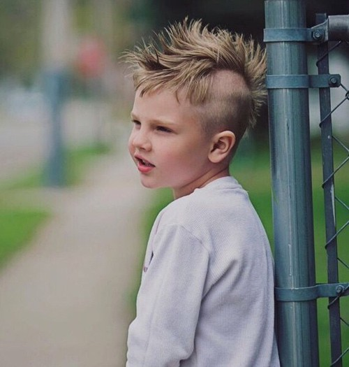 Astounding 20 Awesome And Edgy Mohawks For Kids Short Hairstyles Gunalazisus