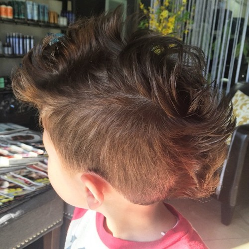 Swell 20 Awesome And Edgy Mohawks For Kids Hairstyles For Women Draintrainus