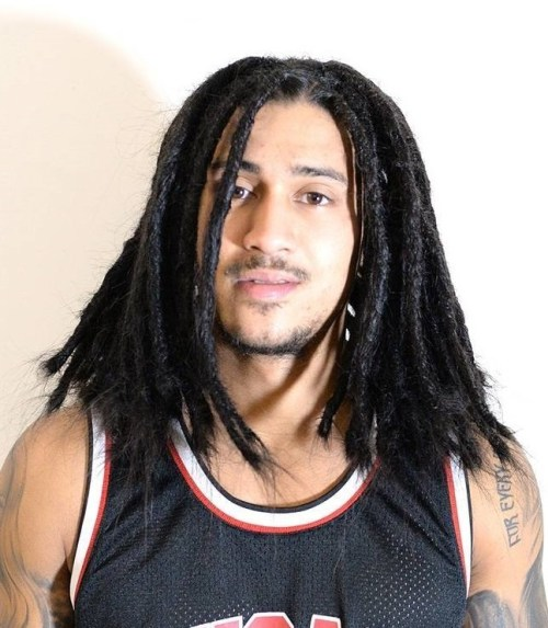 thick medium-length layered dreadlocks for men