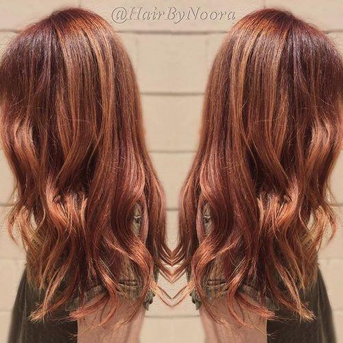 auburn hair color chart