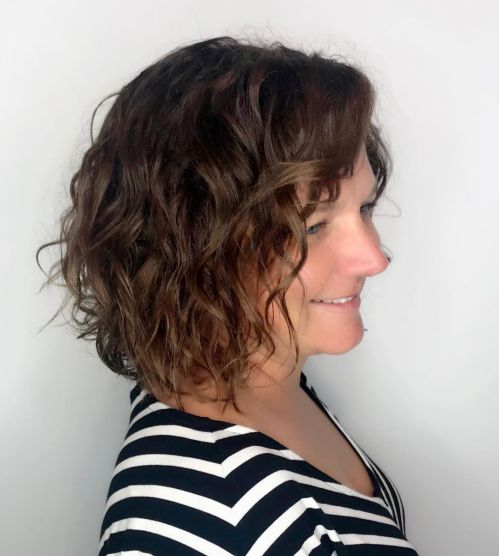 Long Bob With Loose Perm Curls