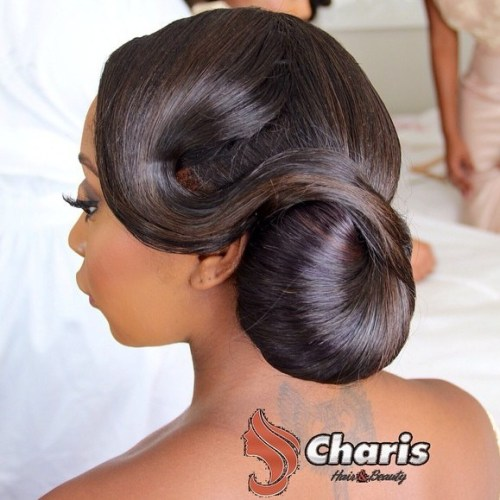 African American Vintage Chignon