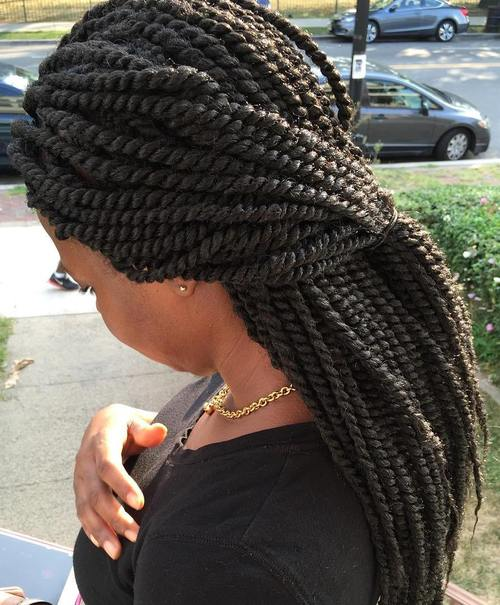 half pony with Senegalese twists