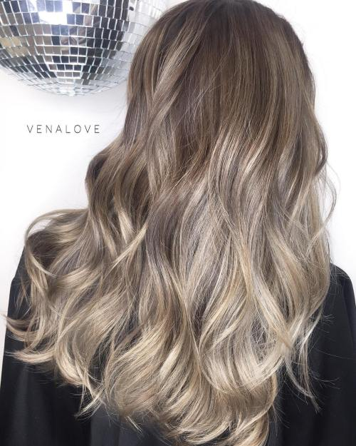 Ash Blonde And Brown Balayage Hair