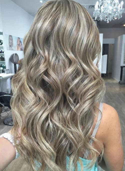 Ash Blonde Hair With Brown Lowlights