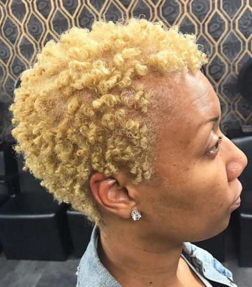 natural hair styles 2015 40 twa hairstyles that are totally fabulous twa 2420 | 4 short natural blonde hairstyle