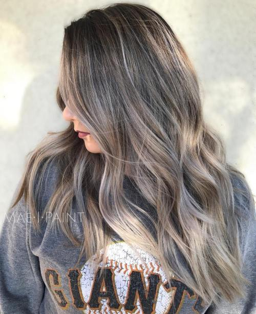 40 ideas of gray and silver highlights on brown hair brown hair with gray highlights pmusecretfo Images