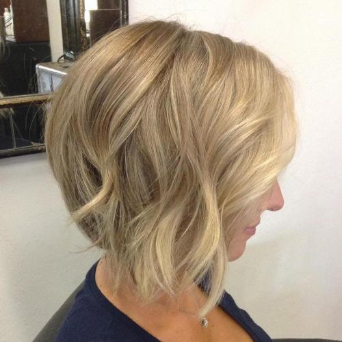 blonde bob with darker roots