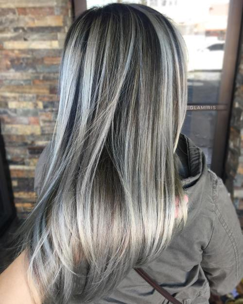 45 ideas of gray and silver highlights on brown hair dark brown hair with ash blonde highlights solutioingenieria