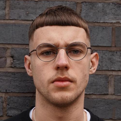 faded Caesar Haircut for thick hair