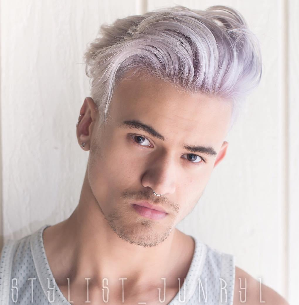 Long Top Short Sides Gray Hairstyle For Men