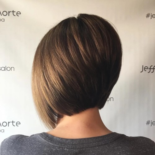 Short Inverted Brown Bob