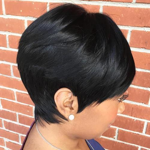 African American Pixie Sew In