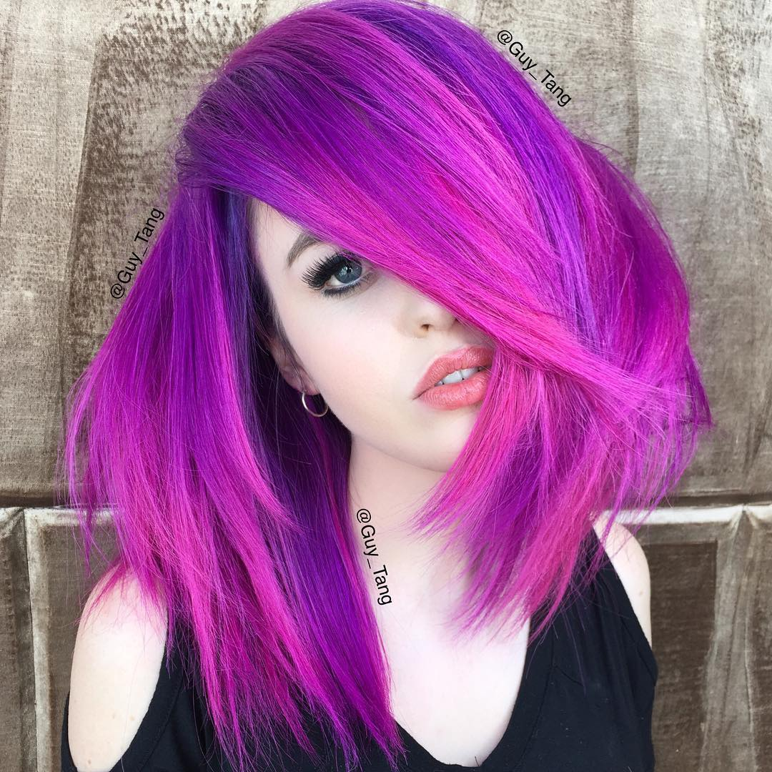 Bright Purple Hair