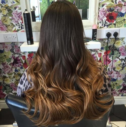 Ombre Hair Dark Brown Light Brown