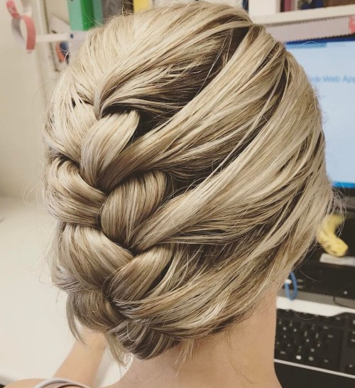 Blonde Braided Updo