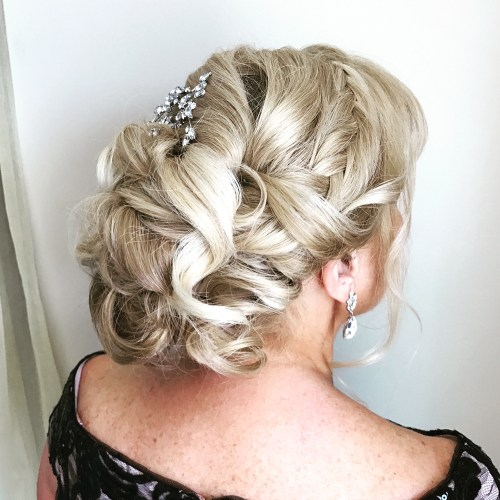 Blonde Curly Mother Of The Bride Updo