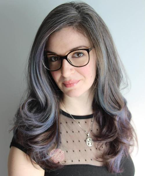 40 ideas of gray and silver highlights on brown hair bluish gray highlights for brown hair pmusecretfo Gallery