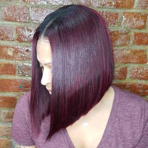 Sew-In Straight Angled Bob