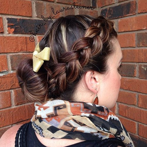 bun and braid low maintenance updo