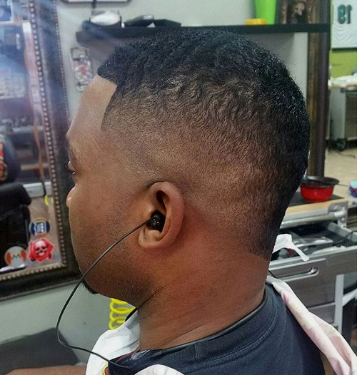 short faded mohawk for natural hair