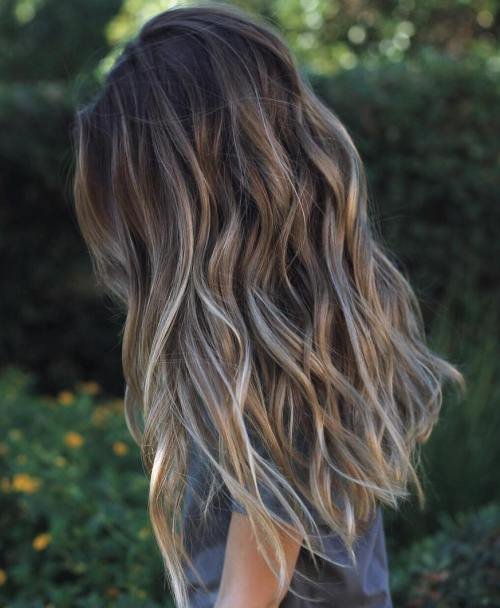 45 ideas of gray and silver highlights on brown hair long brown hair with gray highlights solutioingenieria