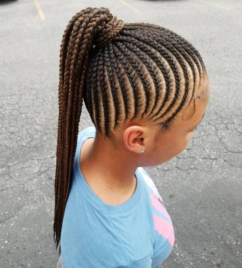 Ponytail With Cornrows