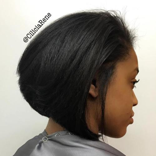 Sew-In Black Bob