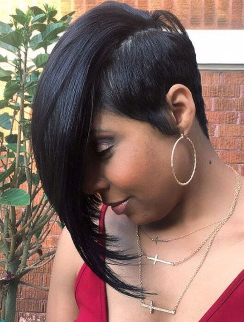 Short Asymmetrical Sew-In