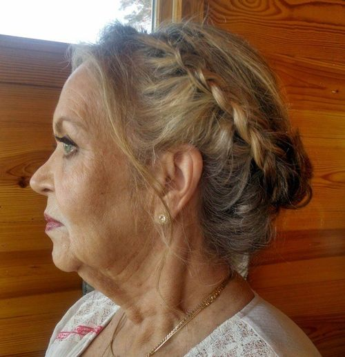 braided updo for older women