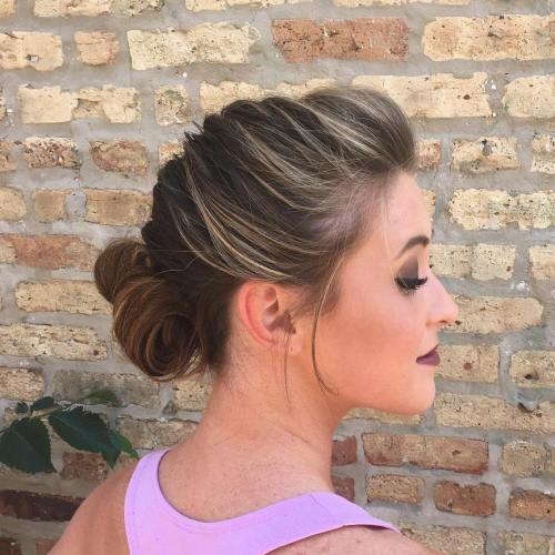 Braided Updo With A Low Bun