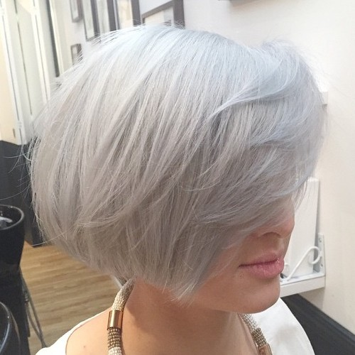 Layered Gray Bob