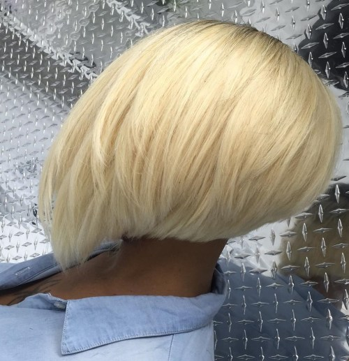 African American Platinum Blonde Bob