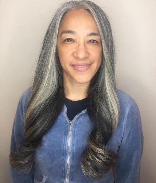 Long Gray Hair For Older Women