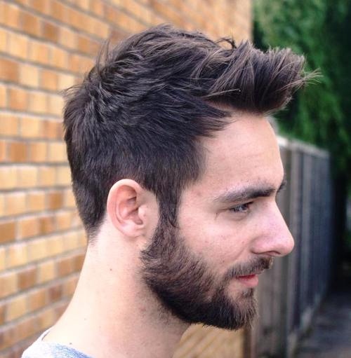 quiff haircut for thick hair