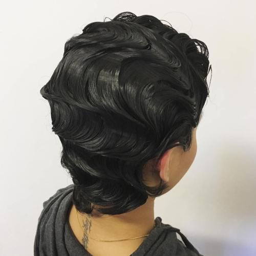 Finger Waves Hairstyle For Shorter Hair
