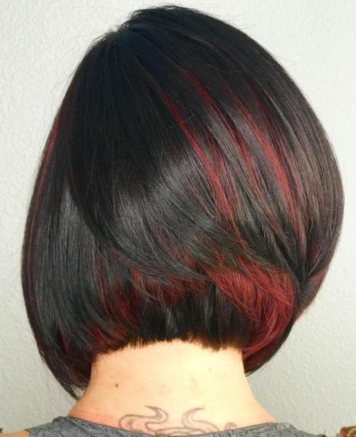40 ideas of peek a boo highlights for any hair color red peek a boo highlights for brunettes pmusecretfo Choice Image