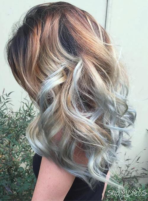 Gimme the blues bold blue highlight hairstyles brown blonde hairstyle with light blue highlights pmusecretfo Choice Image