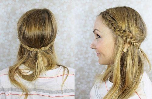 Hairstyles With Dutch Braids: 20 Trendy Half Braided Hairstyles