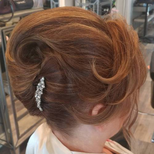 Voluminous Updo For Older Ladies