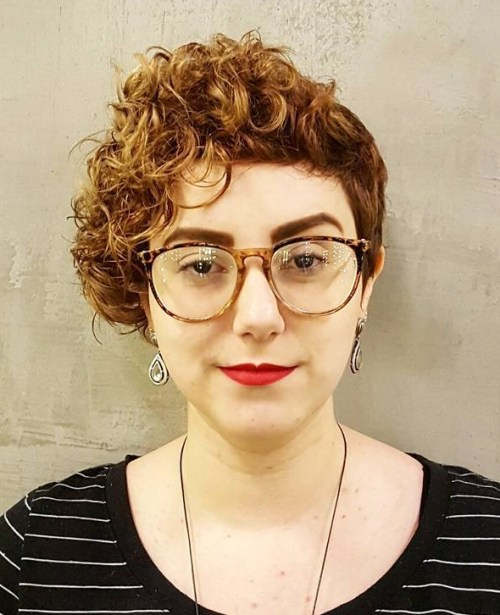 asymmetrical pixie for curly hair