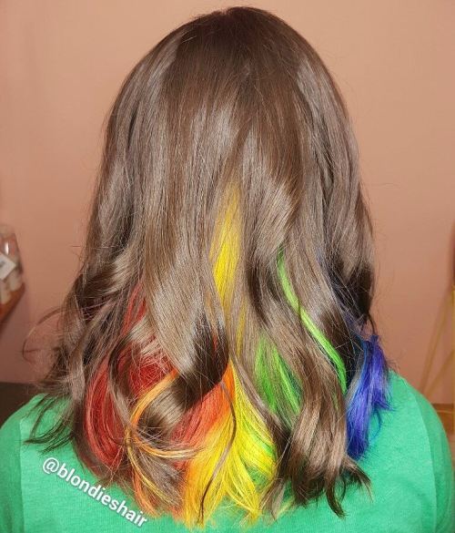 40 ideas of peek a boo highlights for any hair color brown hair with multi colored highlights pmusecretfo Gallery