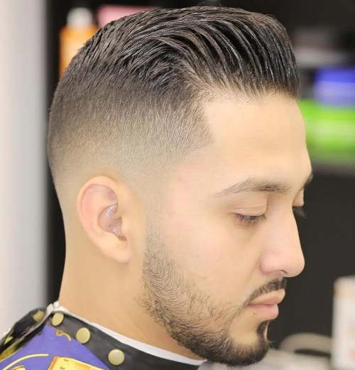 tapered military haircut